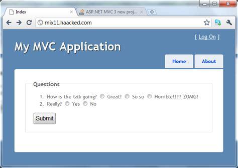 Mvc 4 Html5 Templates