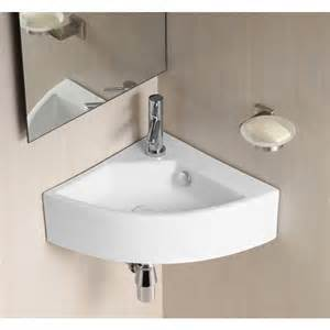 Bathroom Shelf Accessories Florence Compact Corner Wall Mounted Ceramic Sink Basin
