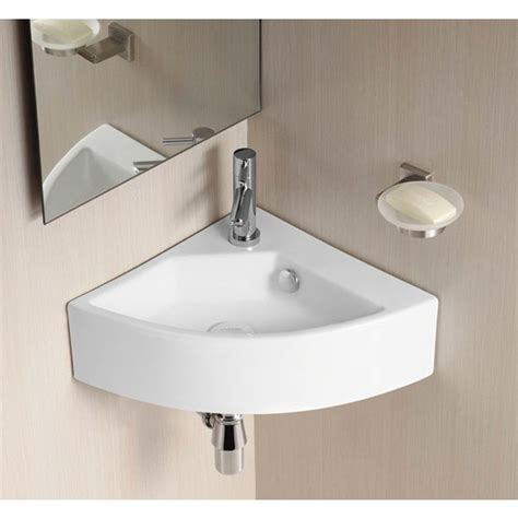 Vanity Mirror Ideas by Florence Compact Corner Wall Mounted Sink Basin