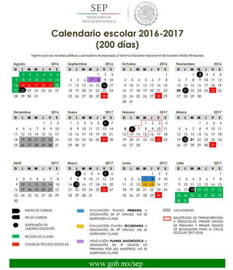 Calendario Septiembre 2017 Sep Calendario Escolar 2016 2017 De 185 Y 200 D 237 As Ciclo