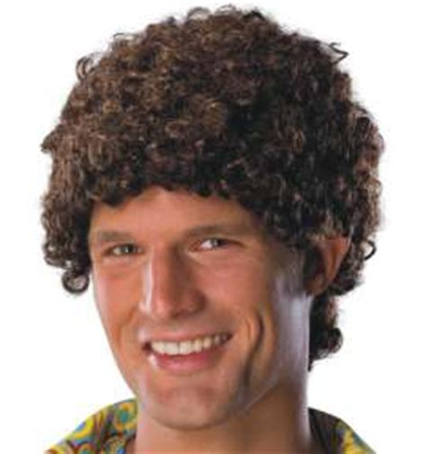 guys get 70s perms youtube wig tight fro brown adult men mens 70 s perm afro ebay