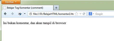 coding html membuat komentar cara membuat komentar di html tutorial coding