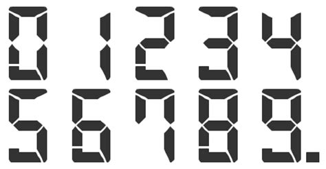 calculator numbers new font for calculator numbers font