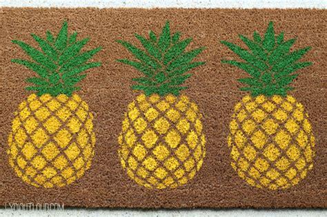 Pineapple Doormat Diy Pineapple Doormat Lydi Out Loud