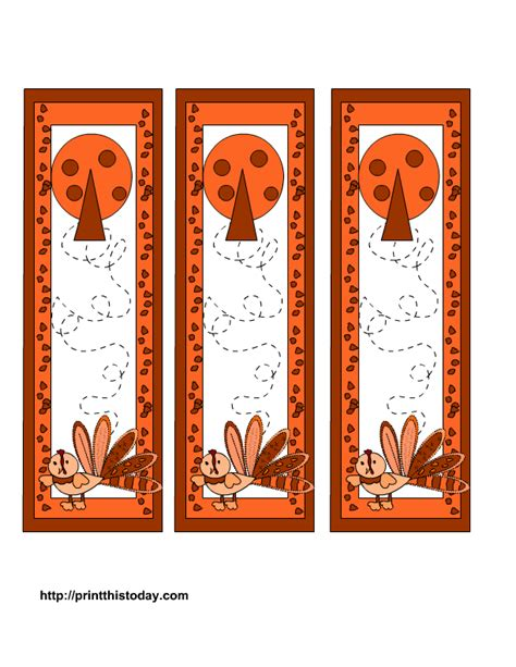 free printable november bookmarks printable bookmarks for november cute turkey pictures