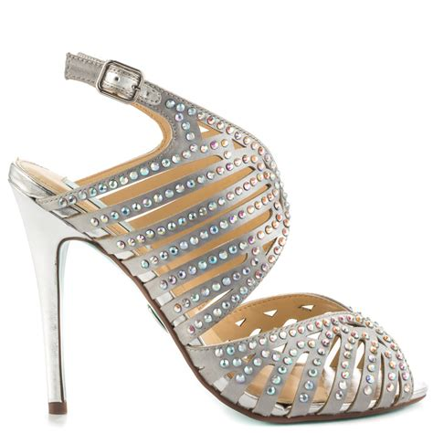 Silver Satin Wedding Shoes by Bridal High Heel Shoes 2017 Wedding Sandals For