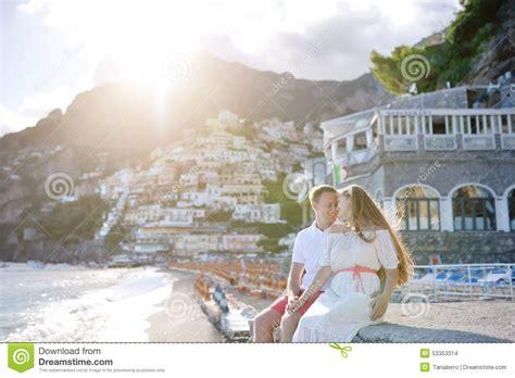 Cauple Senny near in day positano amalfi coast italy stock photo image 53353314