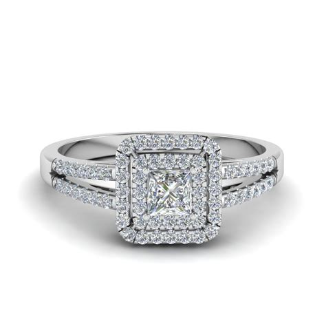 Princess Cut Rings by Princess Cut Pave Halo Engagement
