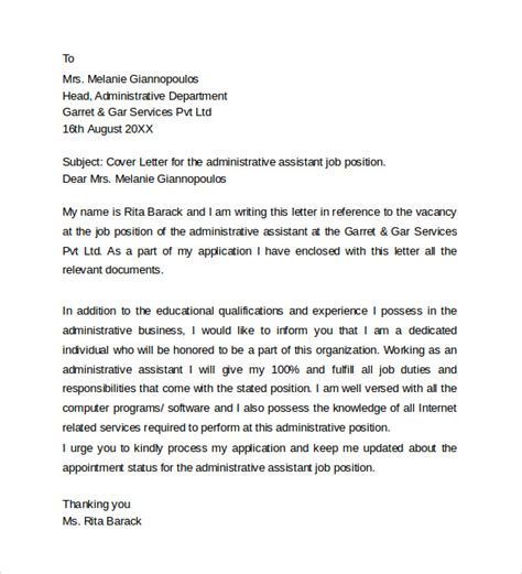 resume cover letter example for administrative assistants gse