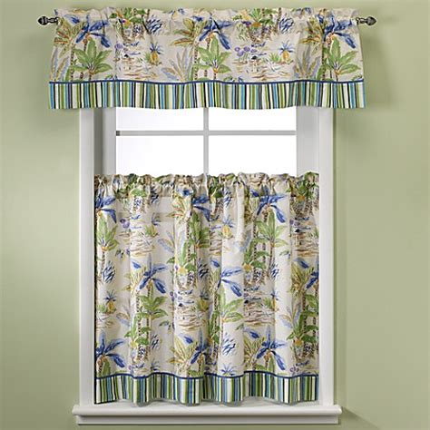 Lagoon Kitchen Window Curtain Tiers Bed Bath Beyond Coastal Kitchen Curtains