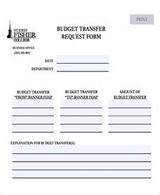 Budget Transfer Request Letter Sle 32 Free Budget Forms