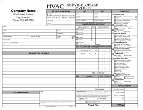 Hvac Receipts Template by 33 Best Images About Invoice On Shops Words