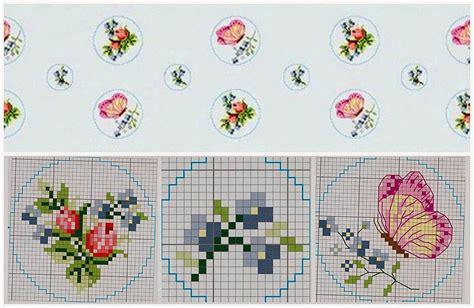 schemi punto croce farfalle e fiori fiori rosa e farfalle schema punto croce magiedifilo it