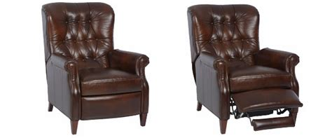 narrow leather recliner chair narrow tufted leather recliner club furniture