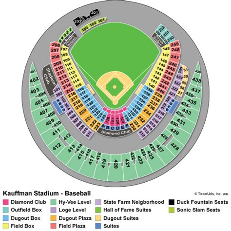 royal stadium seating chart kansas city royals tickets 2015 schedule ticketcity