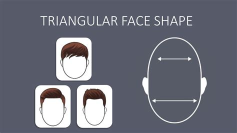 triangular face shape hairstyles for men according to face shape face shape