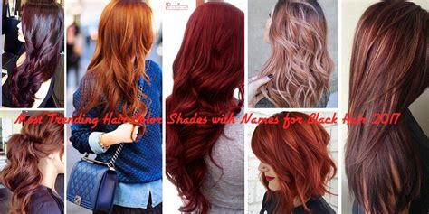 name for color on hair when dark on top blonde on bottom most trending hair color shades with names for black hair 2017