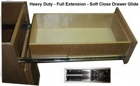 Kitchen Cabinet Drawer Glides | side mount soft close drawer glide rta kitchen cabinets