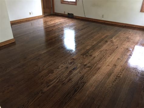 dark stain job in south minneapolis arne s floor sanding