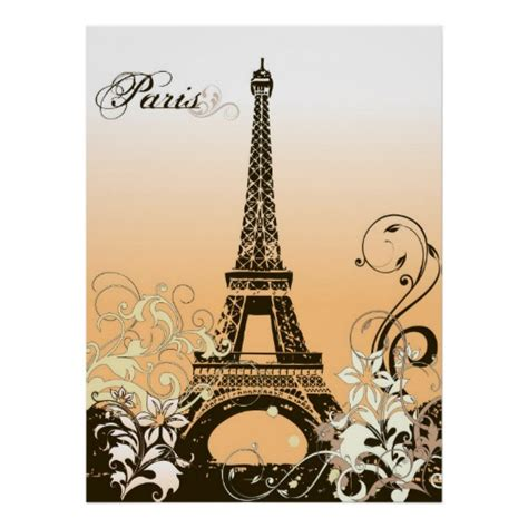 Eiffel Tower Poster eiffel tower poster zazzle