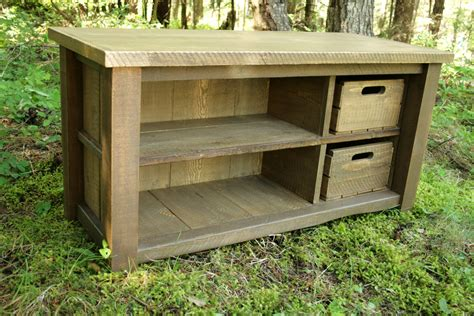 rustic entry bench rustic reclaimed bench entry cubby by echopeakdesign on etsy