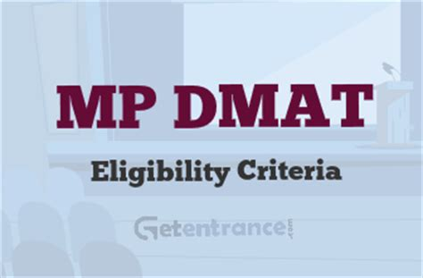 Mba Cet Eligibility Criteria 2017 by Mp Dmat 2017 Eligibility Criteria And Norms Getentrance