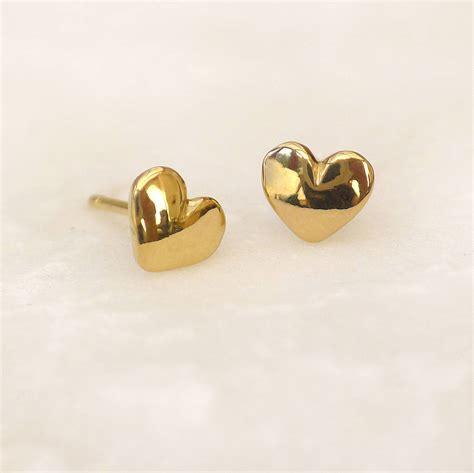 mini stud earrings in 18ct gold by lilia nash