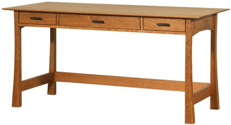 cherry wood writing contemporary craftsman library desk shown in solid cherry
