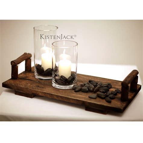 kerzenhalter tablett holztablett kerzenhalter set yin yang kistenjack