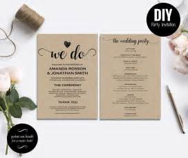 Free Diy Wedding Invitations Templates by Free Rustic Wedding Invitation Templates Wedding