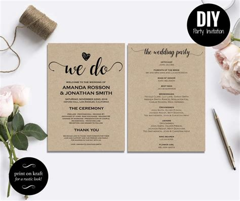 diy printable wedding invitations templates free rustic wedding invitation templates wedding