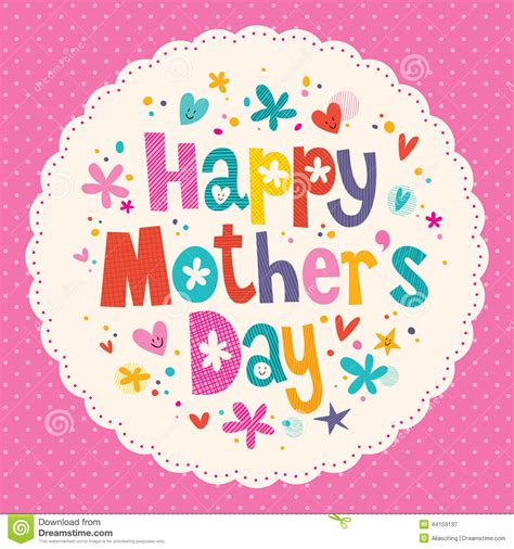 mother s happy mother s day card stock vector image 44159137