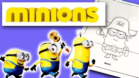 pirate minion coloring page speed coloring of despicable me minion pirate color page