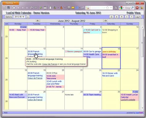 Java Calendar 0 Based Luxcal Web Based Event Calendar Luxcal Is An Innovative