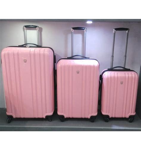 Goedkope Koffers hoge kwaliteit roze schattige polycarbonaat pc 4 wielen