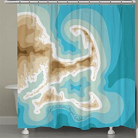 cape cod shower curtain laural home cape cod island map shower curtain bed bath