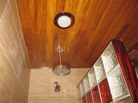 bathroom wood ceiling ideas best teak cedar decorative shower innovate building solutions blog