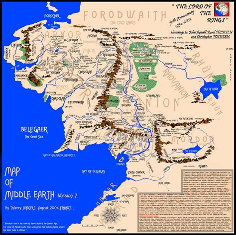 map of middleearth experience points minecrafting middle earth