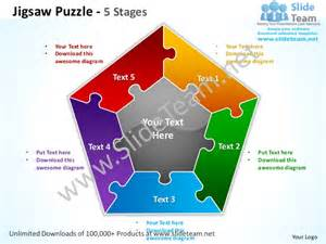 Powerpoint Jigsaw Puzzle Template Free by Jigsaw Puzzle 5 Stages Powerpoint Templates 0712