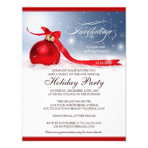 zazzle template corporate invitation template 4 25 quot x 5 5