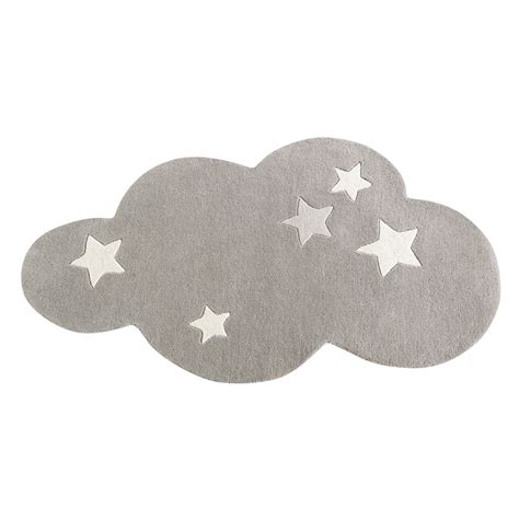 tappeto grigio tappeto nuvola grigio a pelo corto in 75 x 100 cm