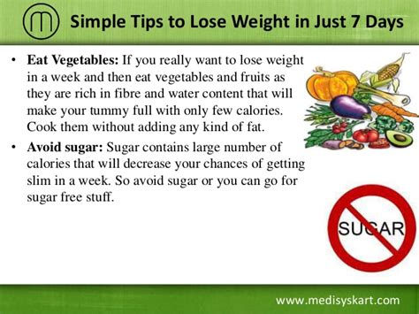 how to lose weight in the mid section tips to lose weight in just 7 days
