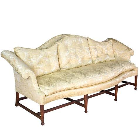 hepplewhite sofa mahogany hepplewhite camelback sofa with serpentine back