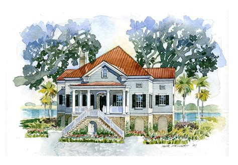 Charleston Style House Plans by Traditional Charleston Style House Plans