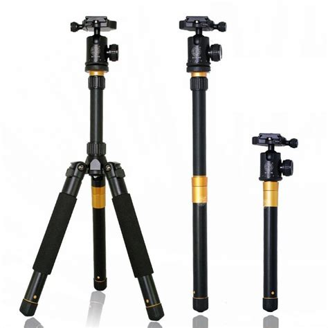 eachshot q999s professional photography portable aluminum tripod to monopod for