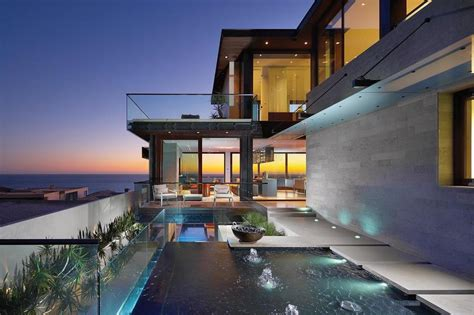 overlapping pools view define coastal home