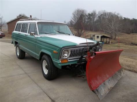 1977 Jeep Chief For Sale Sell Used 1977 Jeep Chief With Snow Plow In
