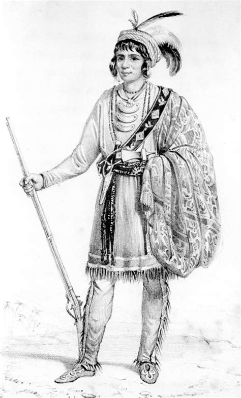 Osceola Court Records Florida Memory Drawing Of Seminole Chief Osceola