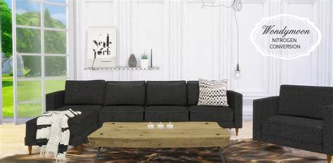 cc couch sims 4 cc s the best living room conversion by mio sims
