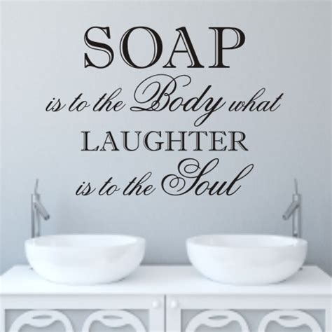 bathroom slogans laughter bathroom wall quote sticker wa098x